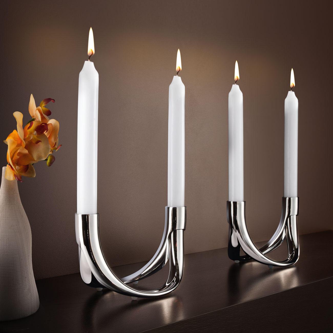 Kerzenhalter Bow, Set für 4 Kerzen