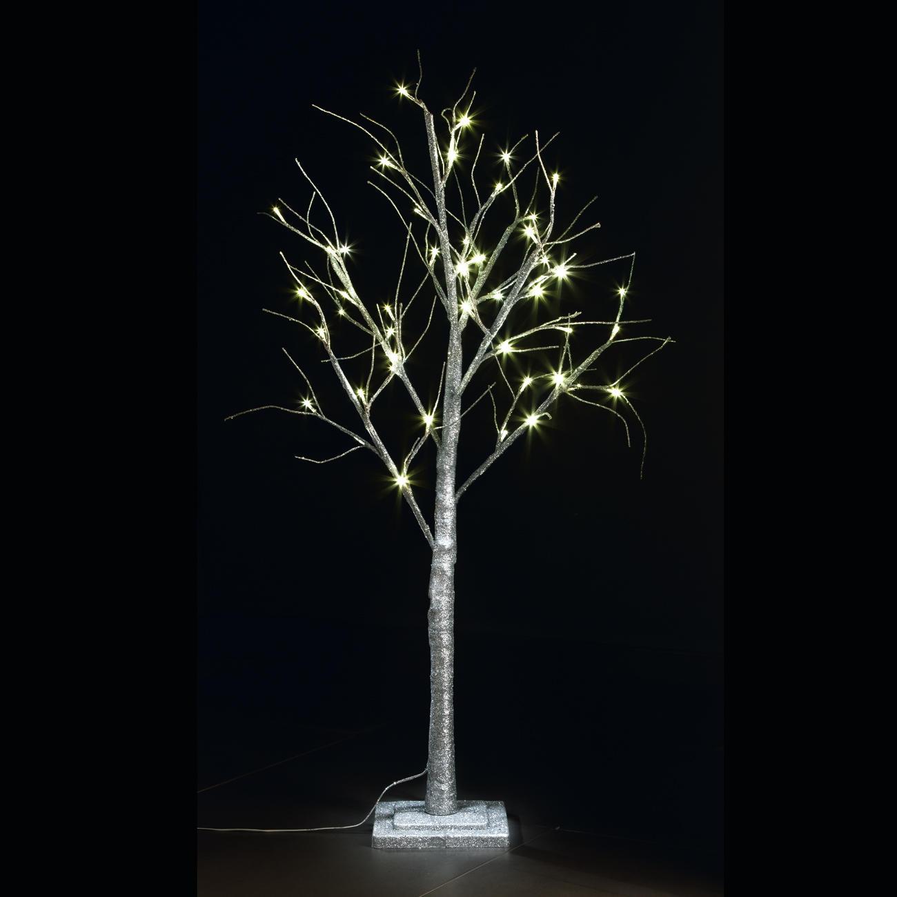 LED Deko-Baum, Silber