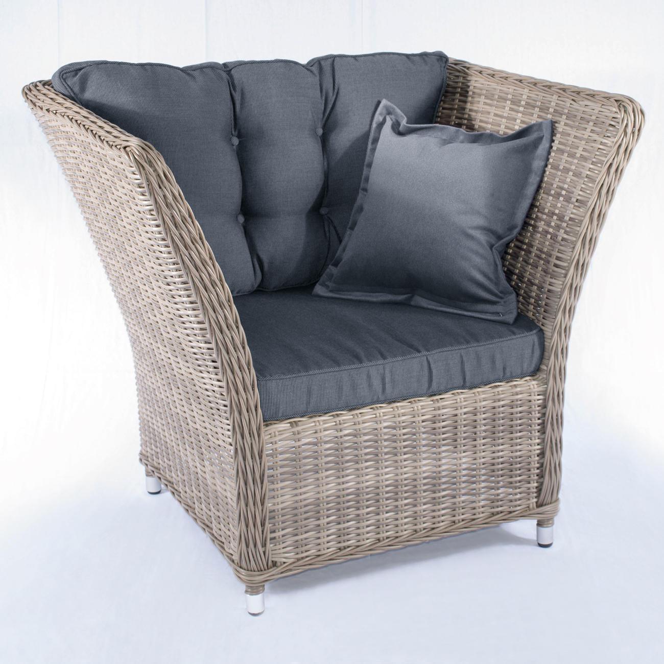 Polyrattan-Lounge-Möbel, Kuschel-Sessel