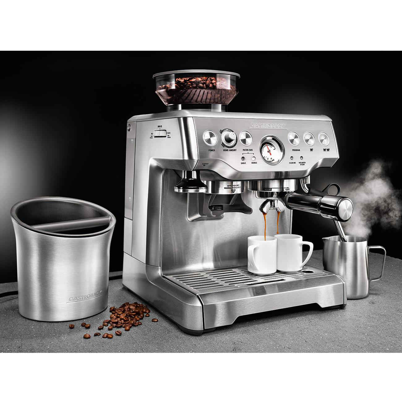 Siebträger Design Espresso Advanced Barista Edition inkl. Abklopfbehälter