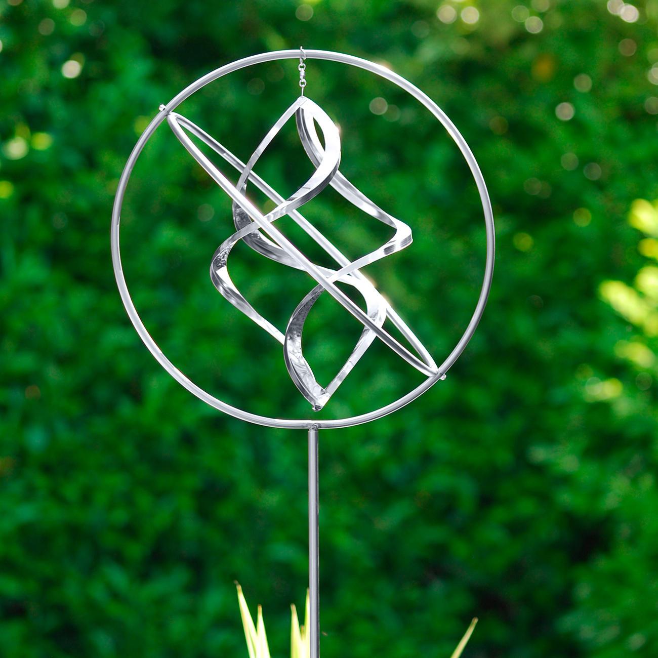 Edelstahl-Windspiel, Wind Dancer , Edelstahl, Edelstahl-Skulptur, rostfrei :: Silber -  -  - Erwachsene