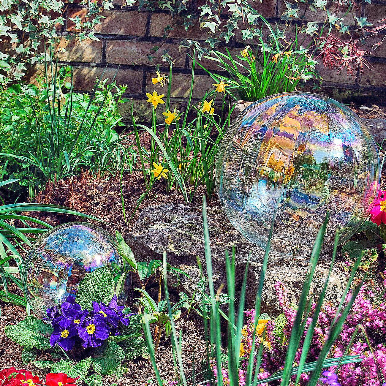 Seifenblasen-Kugel aus Glas, 30 cm Durchmesser