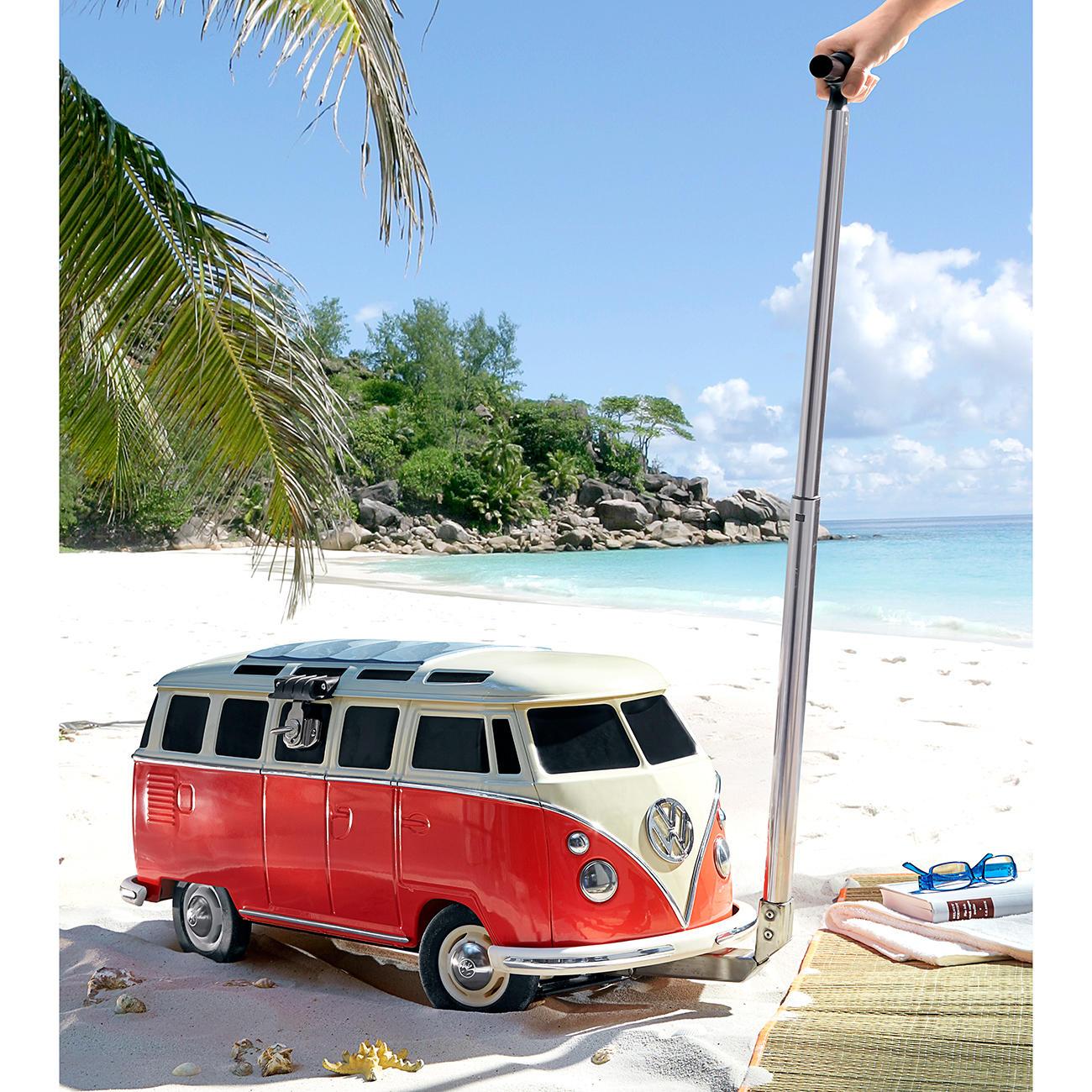 Monster Factory VW T1 Bus Fahrbare Kühlbox mit Rädern :: Rot/Weiß -  -  - Erwachsene