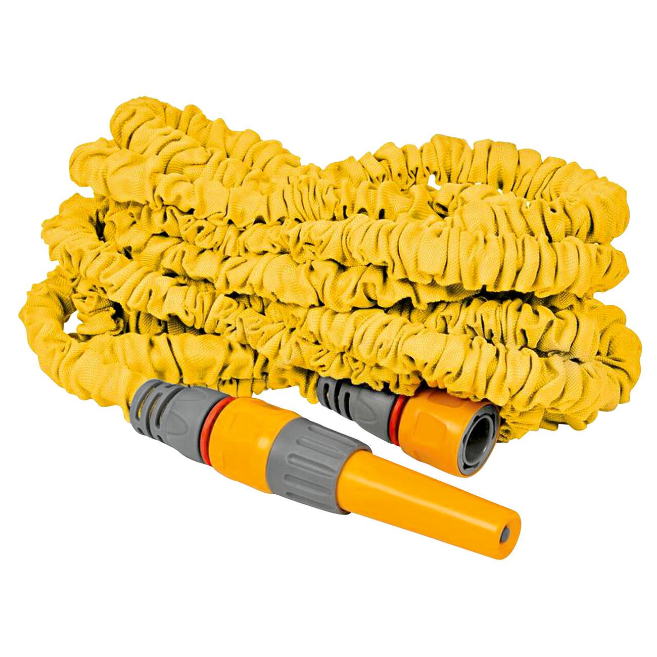 New Flexi-Schlauch Premium, dehnbarer Gartenschlauch Gartenwasserschlauch, gelb :: Gelb -  -  - Erwachsene