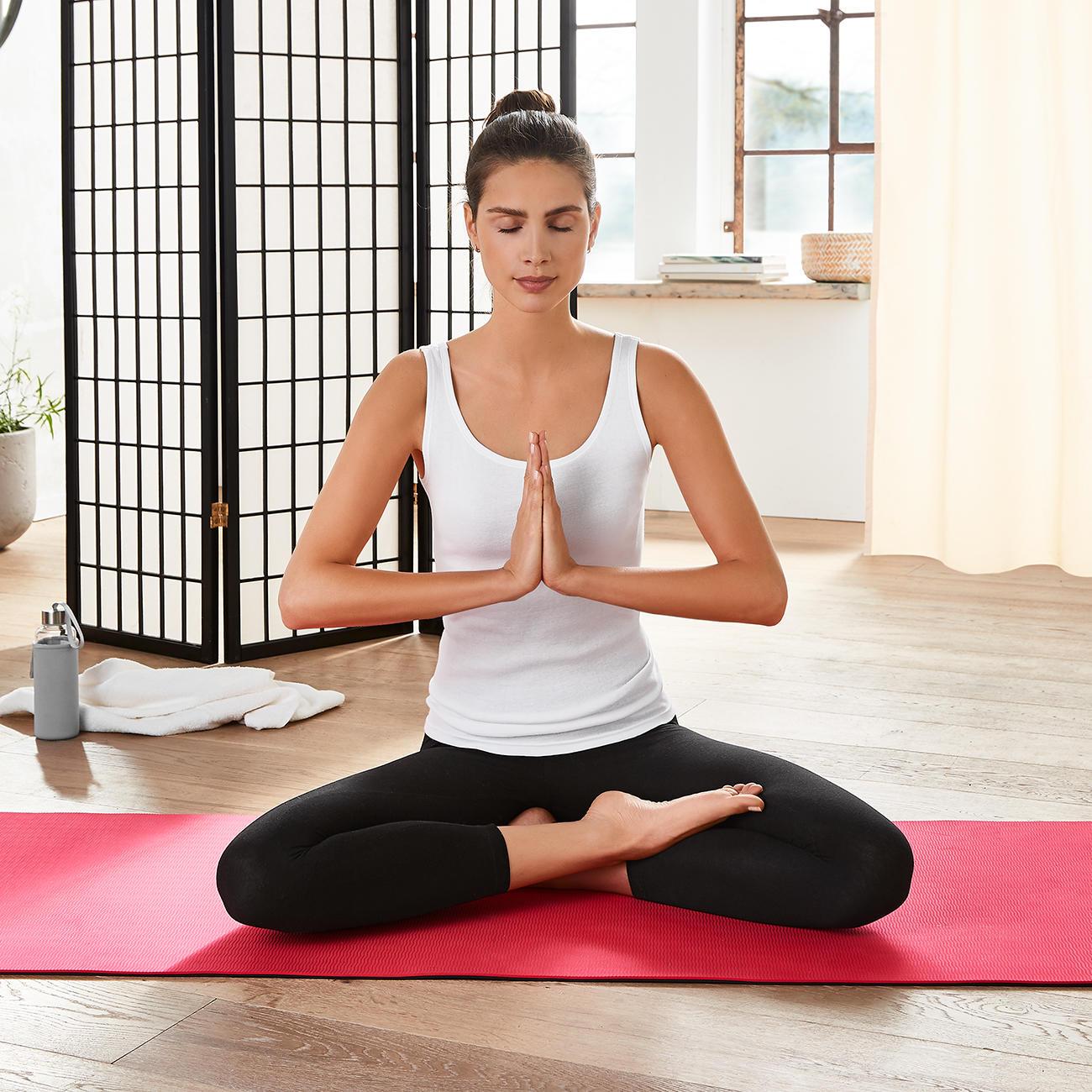 mantrafant Guru Elite Yogamatte und Pilatesmatte schwarz/rot + Tragetasche :: Pink -  -  - Erwachsene