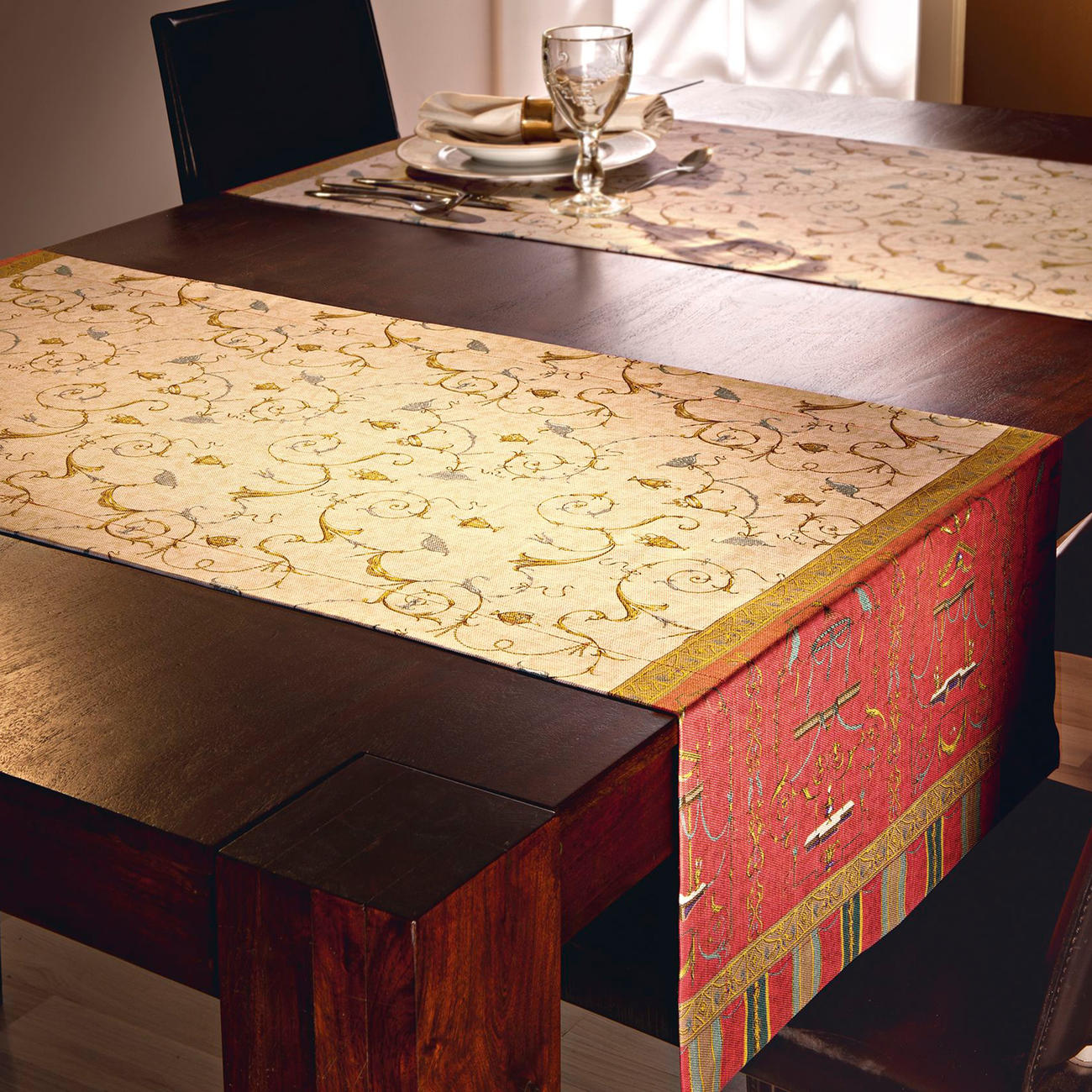 Granfoulard Tischläufer Oplontis V8, 50 x 150 cm