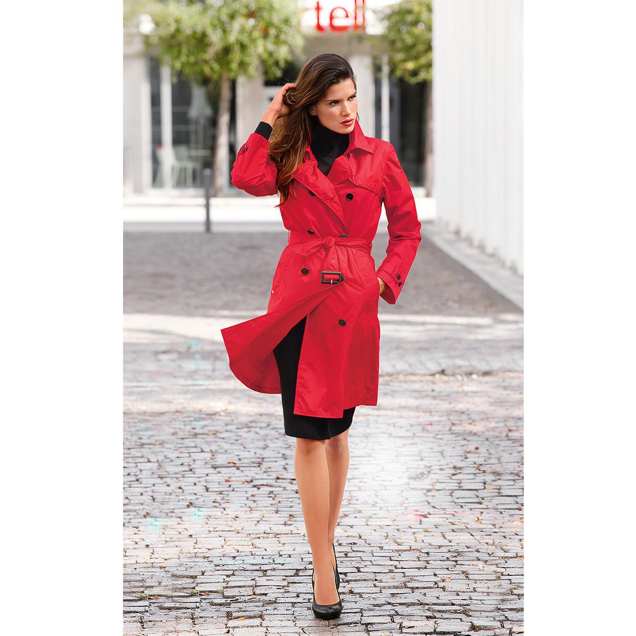 ® Regen-Trenchcoat, Damen, 38 - Rot