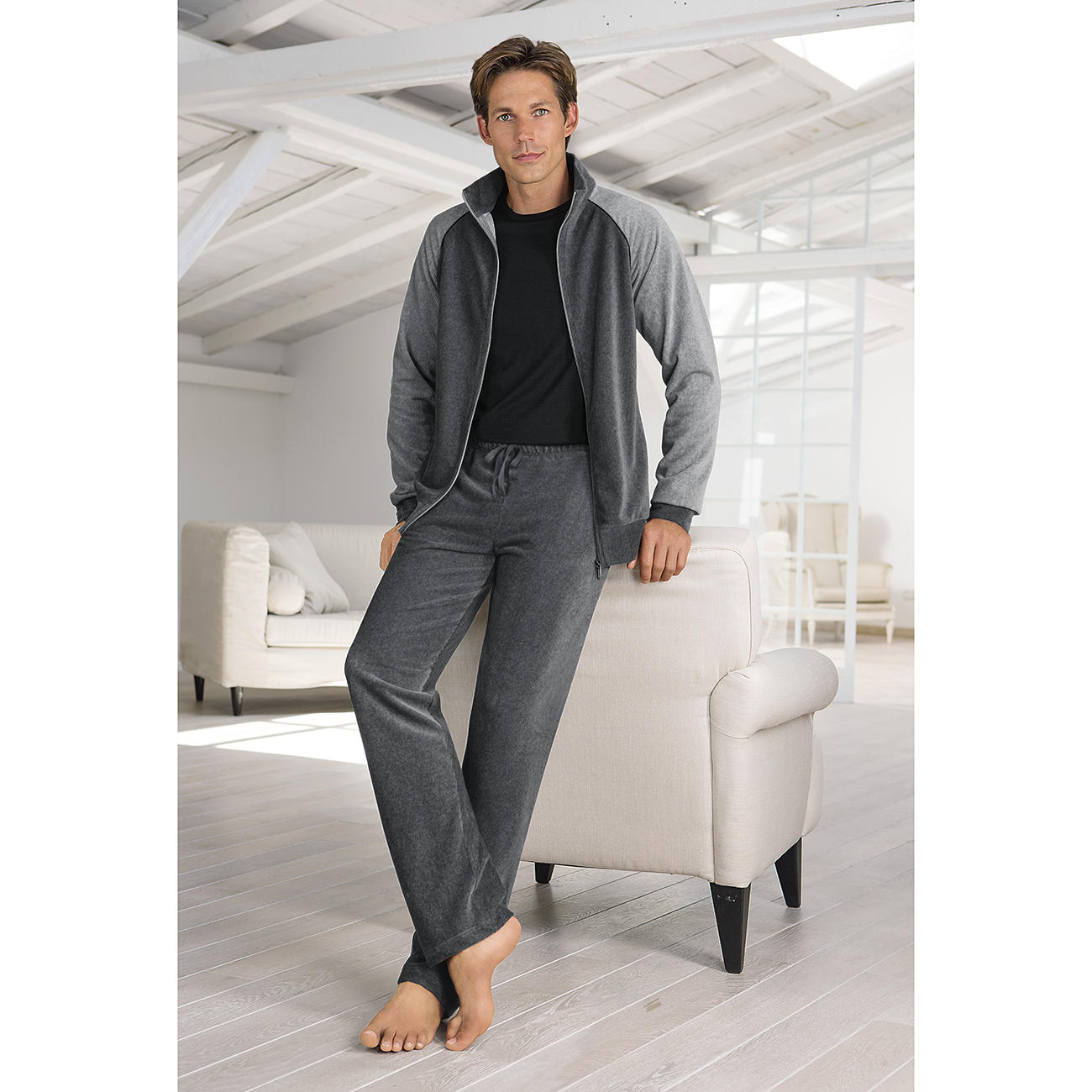 Zimmerli Herren-Homesuit :: Grau - 52 - Herren - Erwachsene
