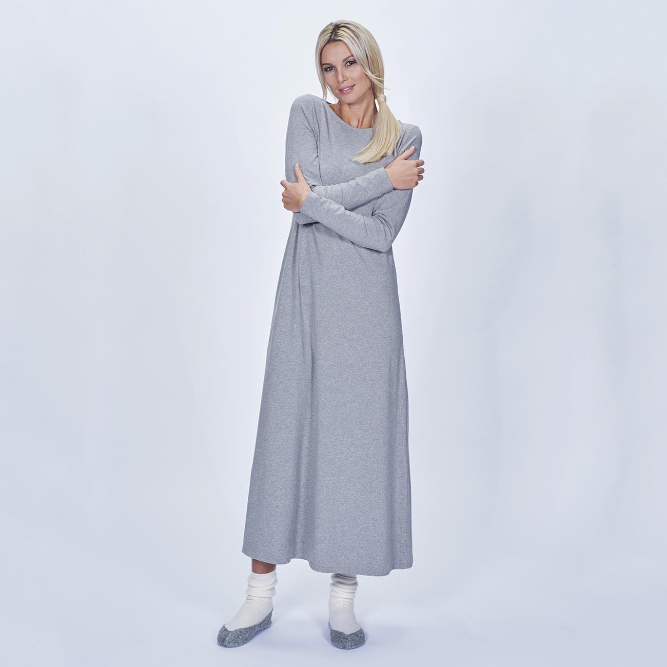 Cornelie Weiss Maxi-Shirtkleid, Longshirt oder Sweatpants, 40 - Grau - Maxi-Shirtkleid :: Grau - 40 -  - Erwachsene