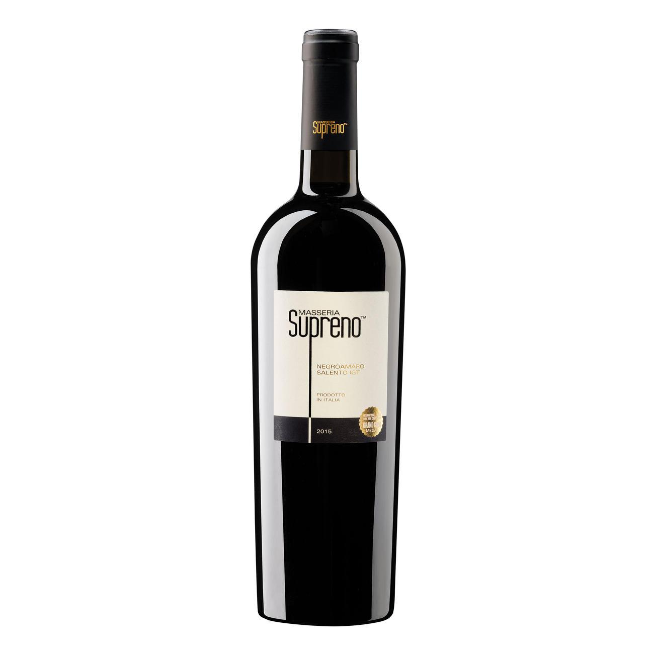 Negroamaro Supreno 2015, Alma the Soul of Italian Wine, Salento, Apulien, Italien, 1 Flasche à 0,75 l